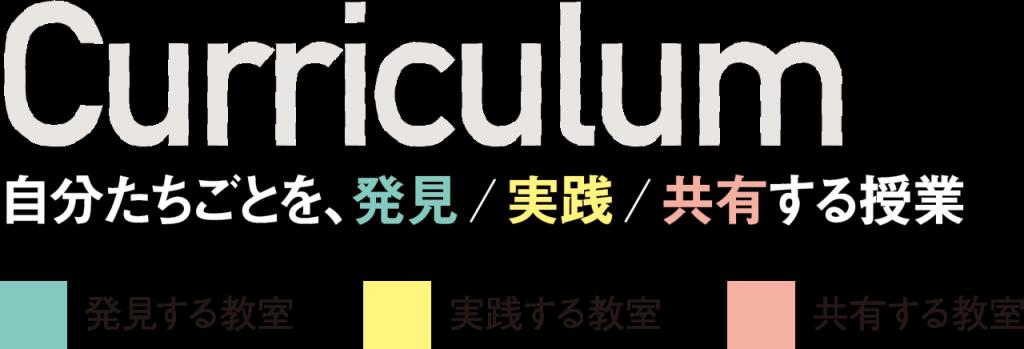 curriculum 自分たちごとを、発見/実践/共有する事業